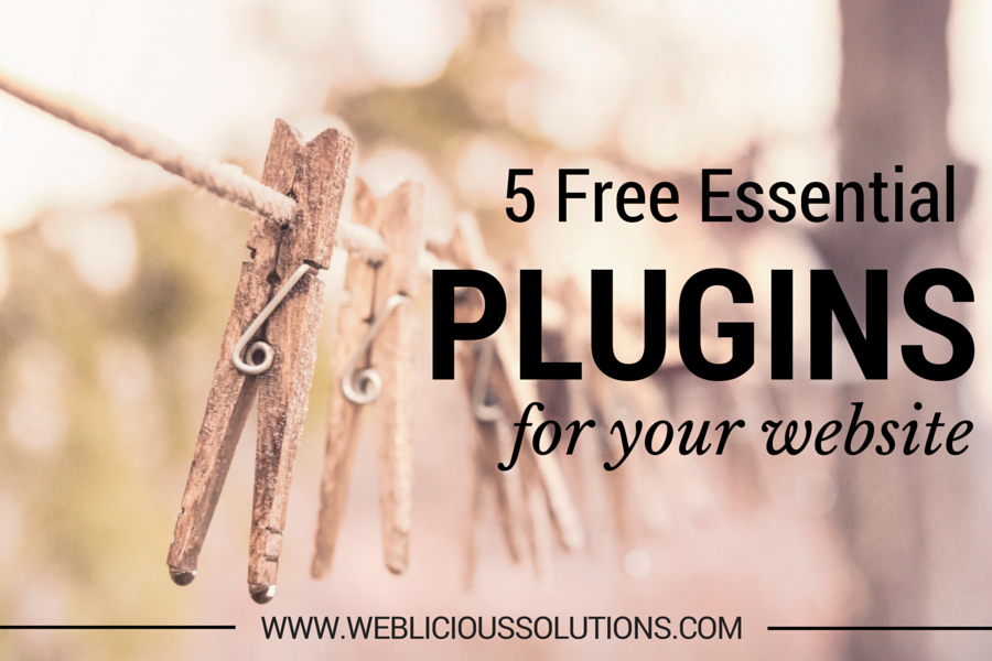 5 fee essential plugins for your webiste